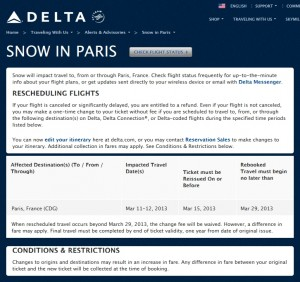 Snow in paris cdg today check your delta flights ren s for Flights to paris today