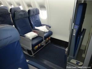 Delta 767-300 economy comfort seats - Delta Points blog review (2)