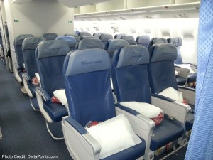 Delta 767-300 economy comfort seats - Delta Points blog review (9)