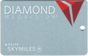 metal delta diamond medallion tag - Delta Points blog