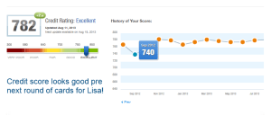 Lisa credit score pre new round of cards delta points blog