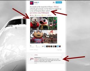 delta mascot tweet