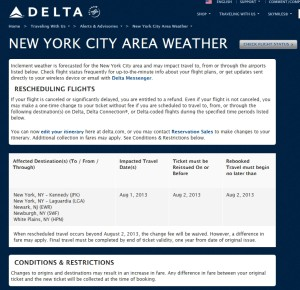 delta travel alert nyc area weather delta points blog