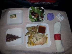 business transcon delta dinner 1st class food delta points blog