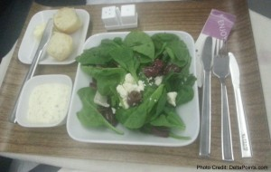 salad business class 767-300 atlanta to europe delta points blog
