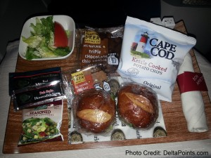 sliders dinner atl-lax delta points blog