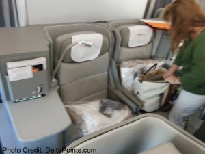 Alitalia Magnifica Class Business seat review delta points blog (4)