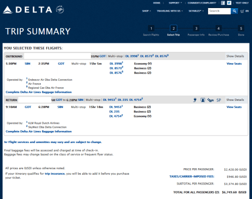 cost business class to sweden delta points blog
