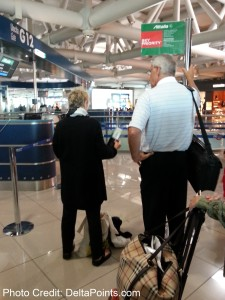 this guy is getting on first alitalia  business class fco-bos delta points blog