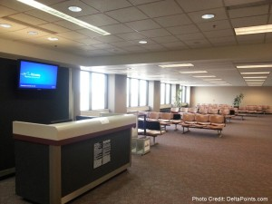 almost empty LAN Lansing Michigan airport gates delta points mileage run