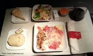 delta 1st class food detroit to las vegas delta points blog