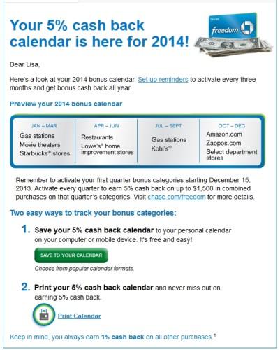 chase freedom 2014 bonus calendar delta points blog