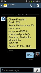 how simple chase makes it to get your freedom bonus each quarter