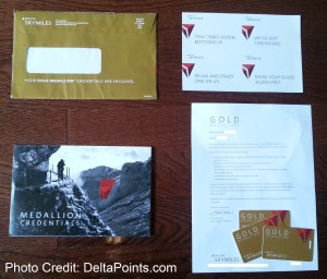 lisa gold medallion elite packet delta airlines delta points blog 1