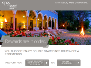 rewards as a spg platinum
