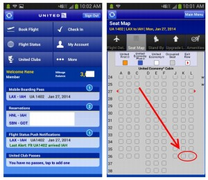 screen shots united phone app delta points blog