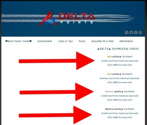 how to try again to click the right Delta Points AMEX link - thanks btw