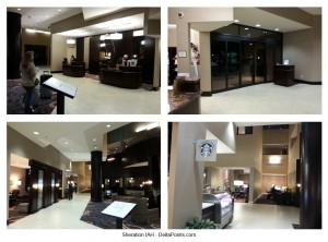 jr suite club level sheraton iah delta points  lobby and checkin