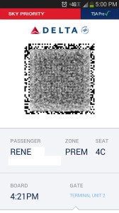 part of renes digital delta boarding pass on phone from a screen shot