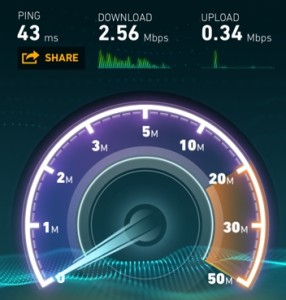 wifi speed test from the AA lounge ORD