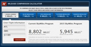 a cheap seat from atl to ams on delta in 2015 earning skymiles