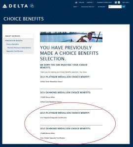 my choice benefits delta skymiles 2015 delta points blog