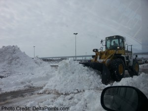 snow being moved around SBN South Bend Airport Delta Points blog