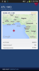 delta app showing incoming jet to MCI from ATL delta points blog