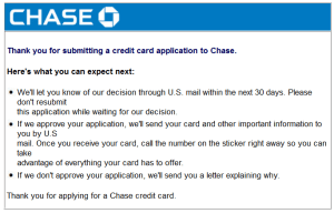 i am not going to wait for my approval for my chase ink blog