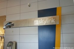 SkyLink tram DFW delta points blog