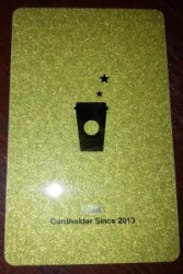 lisa starbucks GOLD card