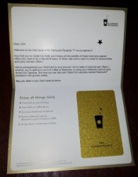 lisa welcome to GOLD starbucks letter