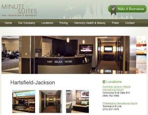 minute-suites web page