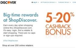 shop discover discounts