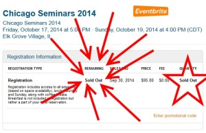 chicago seminars 2014 is sold out