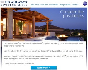 convert spg points to us air points - please do not do it