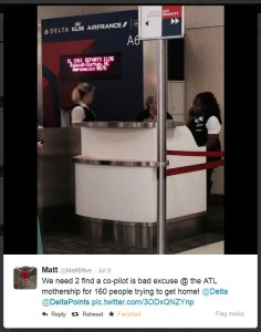 we need to find a co-pilot at ATL  matt trying to get home for delta points blog