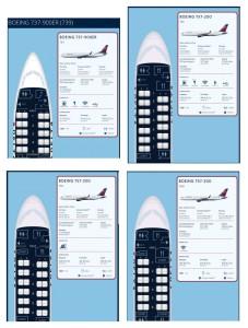 1st class seats delta 737-900 vs 757 jets
