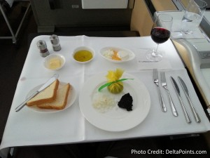 Lufthansa 1st class munich to Toronto A330 DeltaPoints blog review (10)