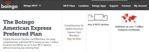 boingo from amex plan