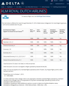 earning on klm