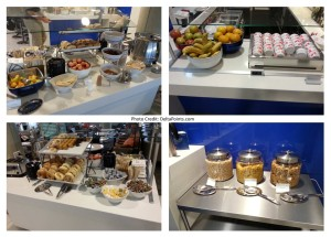 Delta skyclub LAX breakfast choices delta points blog