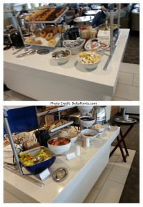 breakfast choices at LAX Skyclub