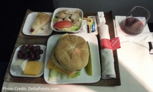 burger delta 1st class lax to atl