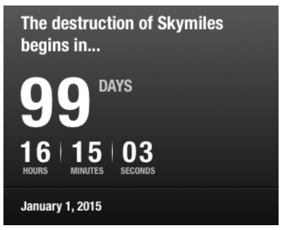 less than 100 days to the destruction of skymiles