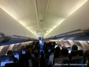 view from the LAST ROW of a CRJ200 delta points blog