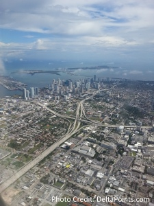 Miami from the air MIA delta points blog