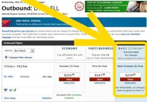 basic economy delta fare class