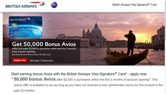 ba card 50k offer