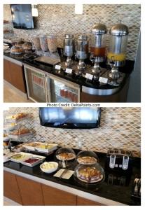 breakfast choics at the sheraton club MIA delta points blog